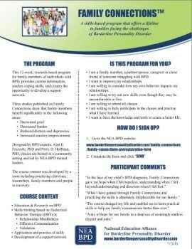 Family Connections Program - Flyer