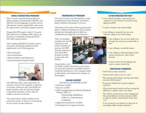 Family Connections Program - Brochure (inside)